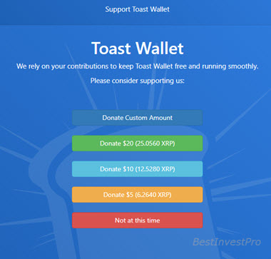 Toast Wallet donate